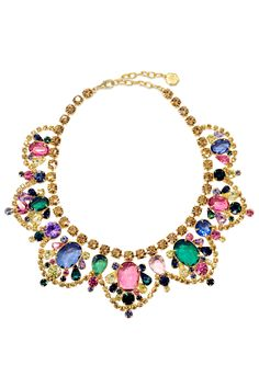 Watercolor Stone Statement Necklace