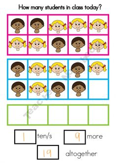 Ten Frame Attendance Poster product from From-the-Pond on TeachersNotebook.com