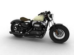 harley davidson 2014 models | Harley-Davidson XL1200 Sportster Forty-Eight 2014 3D Model .max .obj ...
