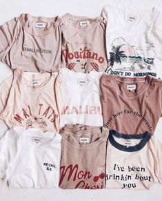 TEES : Can you spot the sneak peek? Tees that are sustainably and ethically made in Los Angeles Mode Outfits, Trendy Outfits, Summer Outfits, Fashion Outfits, Womens Fashion, School Outfits, Teen Fashion, Fashion Ideas, Vintage Outfits