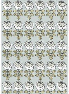 Marimekko, Graphic Illustration, Stencils, Print Patterns, Textiles, Japan, Green, Flowers, Prints
