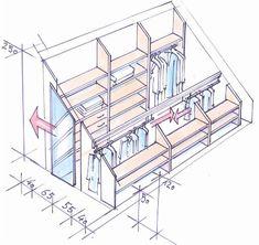 62 Ideas Attic Bedroom Storage Ideas Slanted Walls For 2019 Library Bedroom, Attic Library, Closet Bedroom, Attic Office, Wardrobe Closet, Closet Library, Closet Office, Office Nook, Attic Storage
