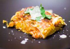 Λαζάνια στο φούρνο με κολοκύθα και φρέσκο τυρί