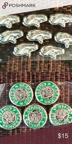44c1e0a8b1e6 Denver Broncos  amp  Starbucks Coffee charms Denver Broncos  amp  Starbucks  Coffee charms - fit