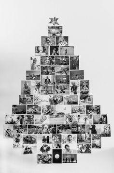 Doe-het-zelf: Kerstboom van foto's