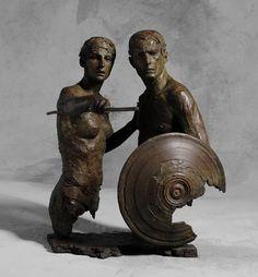 Christophe Charbonnel. Thésée et l'Amazone, 48 x 53 x 34 cm, édition sur 30, 2015.