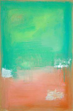 REDUCED. Seafoam Abstract Painting Original von OraBirenbaumArt