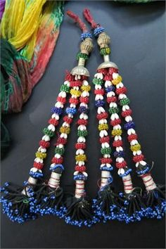 Long Vintage Baluchi Tribal Tassels