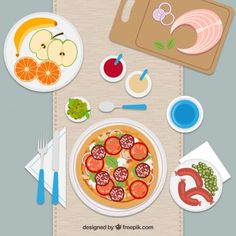 Meal Flat Illustration Free Vector