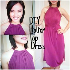 DIY Halter Dress (can make maxi or below the knee)