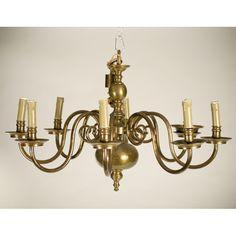 Antique Brass Chandelier Circa 1920u0027s | Lighting | Pinterest | Antique  Brass Chandelier, Brass Chandelier And Antique Brass