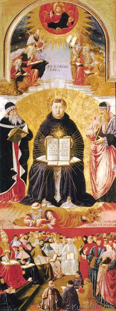 Benozzo Gozzoli - Der Triumph des Heiligen Thomas von Aquin