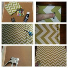 My afternoon corkboard upcycle project ;)