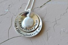 personalized jewelry personalized necklace hand by OakHillDesigns, $40.00