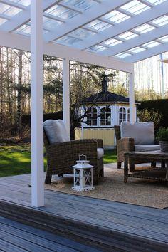 LA PETITE PRINCESSE: Remontin tuloksia - valokate takapihan terassille. / Terrace, backyard