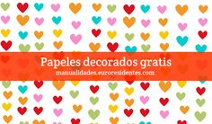 Papel decorado corazones  http://manualidades.euroresidentes.com/2013/01/papel-decorado-corazones.html