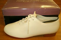 CHILD & ADULT... U CHOOSE SIZE... WHITE JAZZ TAP CLOGGING IRISH DANCE OXFORD