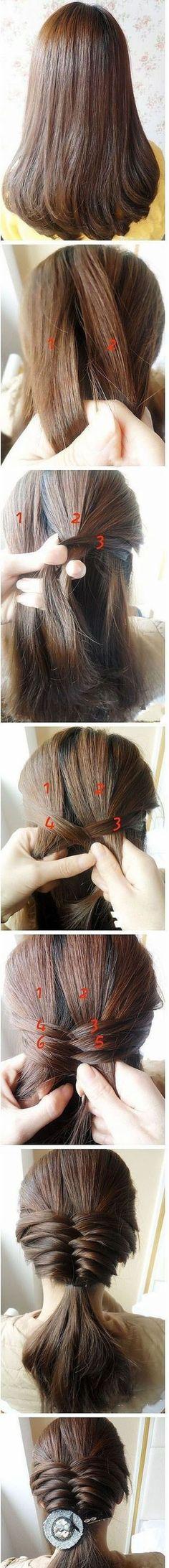 Penteado super facil de fazer ^_^