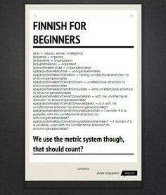 Want to learn some Finnish language? Trust me, it's not really as difficult or as confusing as this sheet makes it seem, you can actually learn Finnish. Learn Finnish, Learn German, Learn English, Finland Education, Finnish Words, Finnish Language, Learn A New Language, Creating A Business, Foreign Languages