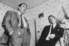 Ronnie and Reggie Kray.