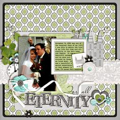 .Perfect LDS scrapbook layout!