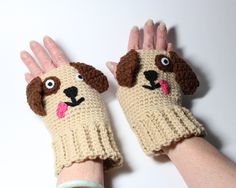 free crochet dog mitts - Google Search