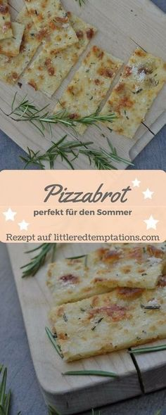 {Spontaneous guests} Crunchy last-minute pizza bread - little.- {Spontane Gäste} Knuspriges Last-Minute-Pizzabrot – little. this pizza bread is made quickly and easily. Perfect for summer! Pizza Recipes, Bread Recipes, Dinner Recipes, Snacks Recipes, Pain Pizza, Pizza Pizza, Pizza Snacks, Party Snacks, Summer Recipes