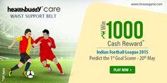 Predict the 1st goal scorer b/w MB-Kolkata & Royal Shillong on 20th May & win Rs.1000 cash.