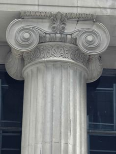 Ionic Capital ~Terence Faircloth - Ionic capital from the Bank America Building on South LaSalle Street in Chicago, Illinois.