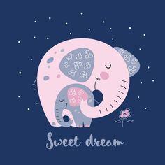 Cute Good Night, Good Night Sweet Dreams, Art Drawings For Kids, Cute Animal Drawings, Doddle Art, Sleeping Drawing, Good Knight, Good Night Greetings, Night Pictures