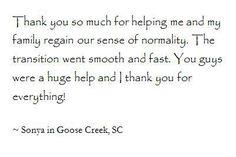 Thank you, Sonya! Goose Creek, SC