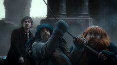 In a boat? You know.......Bombur's really fat....-Fili
