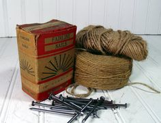 Complete One Pound Box of Common Nails  Vintage by DivineOrders, $16.00