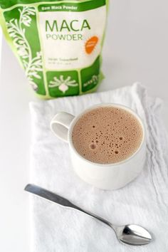 Maca Mocha Recipe - assists the body with balancing hormones and adrenal fatigue. Instead of cashews I would probably use half unsweetened almond milk and water Smoothies, Juice Smoothie, Smoothie Drinks, Detox Drinks, Smoothie Recipes, Healthy Drinks, Healthy Snacks, Healthy Eating, Healthy Recipes