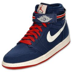 Air Jordan Retro 1 High Strap Men\u0027s Basketball Shoes | FinishLine.com |  Midnight Navy