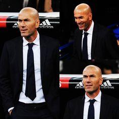 Zinedine Zidane el DT del Real Madrid.