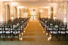 Image result for candles wedding aisle