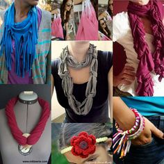 Tee Shirt Crafts. Must try! Loving these scarves!