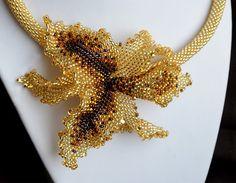 """Колье, бусы ручной работы. Ярмарка Мастеров - ручная работа Колье """"Тигровая орхидея"""". Handmade."""