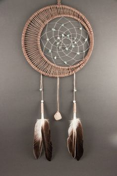 Moonstone Dream Catcher by TheLanternTree on Etsy