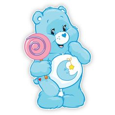 Bed time bear with lollipop