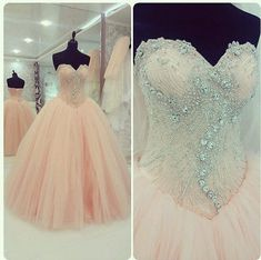 New 2015 Quinceanera Dresses Formal Prom Party Pageant Ball Dresses Bridal Gowns