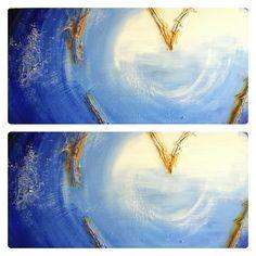 Schilderij Engels hart | de totstandkoming - details | voor het eindresultaat zie: http://marloesvanzoelen.nl/schilderijen/engels-hart/?