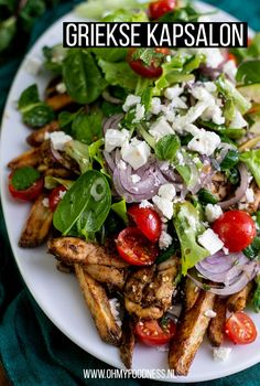 Easy Macaroni Salad, Creamy Salad Dressing, Good Food, Yummy Food, Greek Dishes, Greek Recipes, Ww Recipes, Recipes From Heaven, Food Inspiration