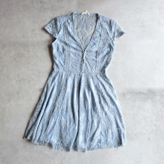 so baroque about you romantic lace dress in dusty blue [womens] - shophearts