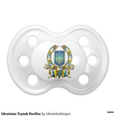 Ukrainian Tryzub Pacifier BooginHead Pacifier #ukrainian #ukrainiangifts --- Gifts http://www.zazzle.com/ctek101