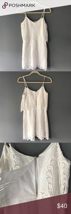Dolce Vita 'Jeralyn' Lace Dress White lace dress in excellent used condition. Has a few makeup marks on the straps that can be removed with dry cleaning. Dolce Vita Dresses