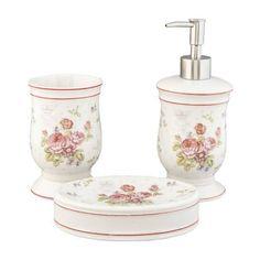Accessoires salle de bain romantique chic Clayre & Eef   Déco rétro ...