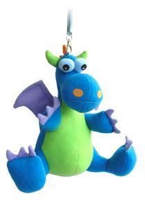 Wiebeldier Blauwe draak groot (Funny Stuff)