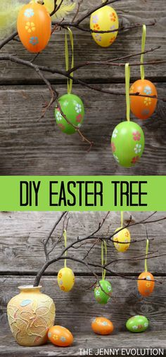 DIY Easter Egg Tree Decoration. So adorable!